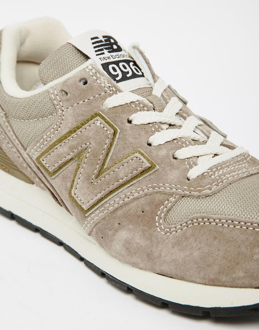 nike air max si en cuir - New balance 996 Vintage Leather and Mesh Low-Top Sneakers in Beige ...