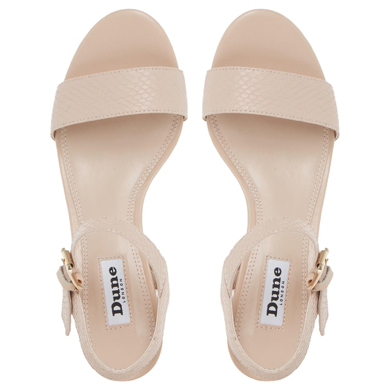 6172d835b02ded Dune Marcia Jewelled Block Heel Sandals - Lyst