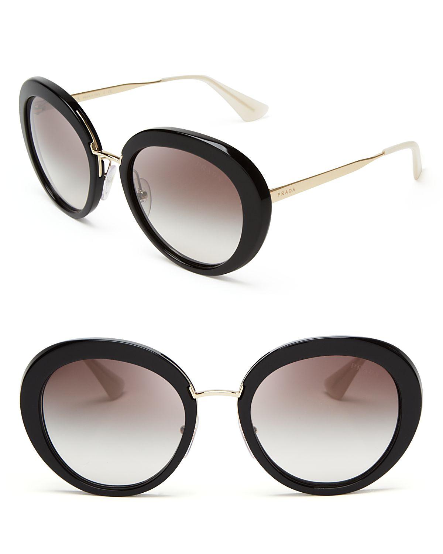 7b0ed1412223 ... denmark sweden lyst prada round oversized sunglasses in black be0c9  4ef88 109c7 ec4d2