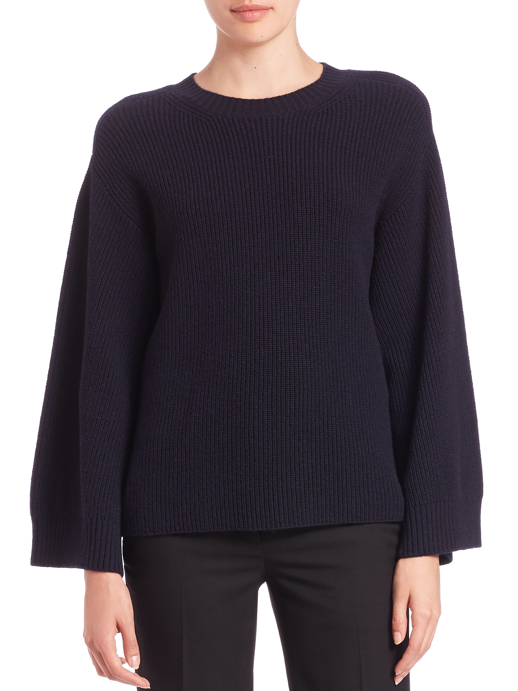 432e76e2a652 Lyst - Helmut Lang Wool   Cashmere Pullover Sweater in Blue