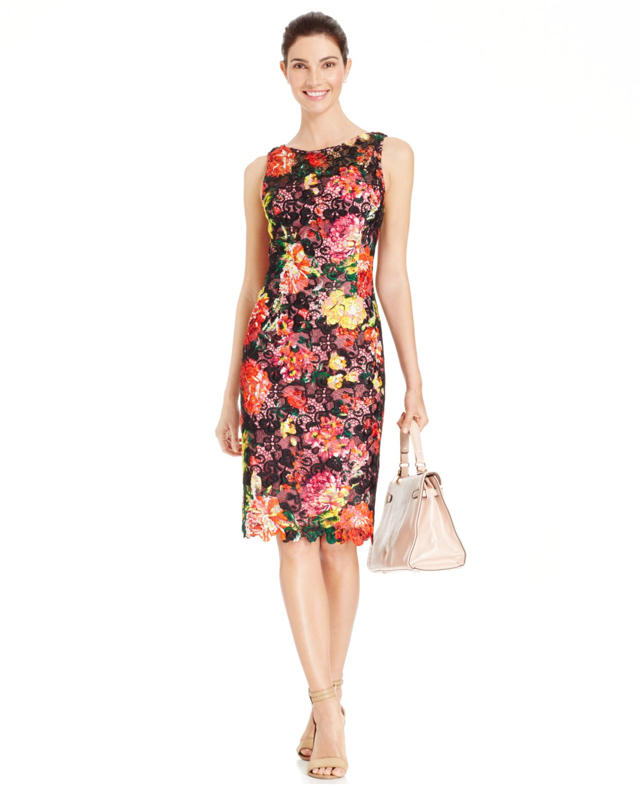 02b036ced3b Gallery. Previously sold at  Macy s · Women s Adrianna Papell Lace Dress  Women s Adrianna Papell Floral ...