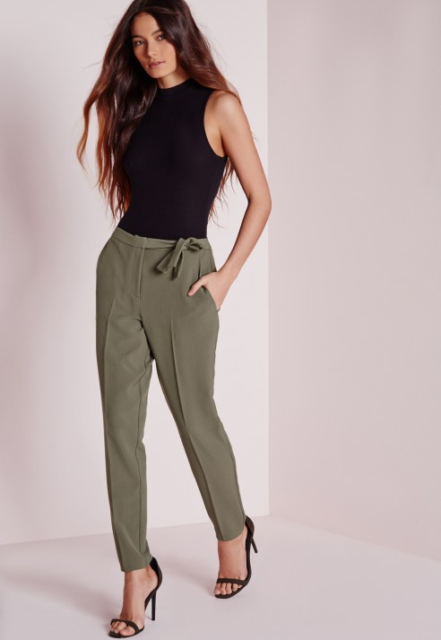 Khaki cigarette trousers missguided cigarettes can cause