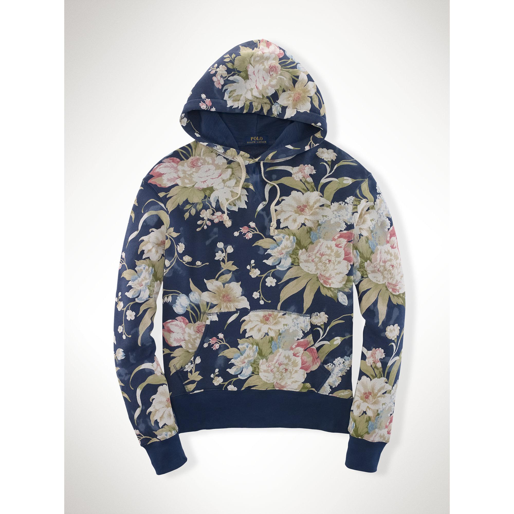 c30b05cbb6c9 ... denmark lyst polo ralph lauren floral cotton terry hoodie for men 95532  b59ac