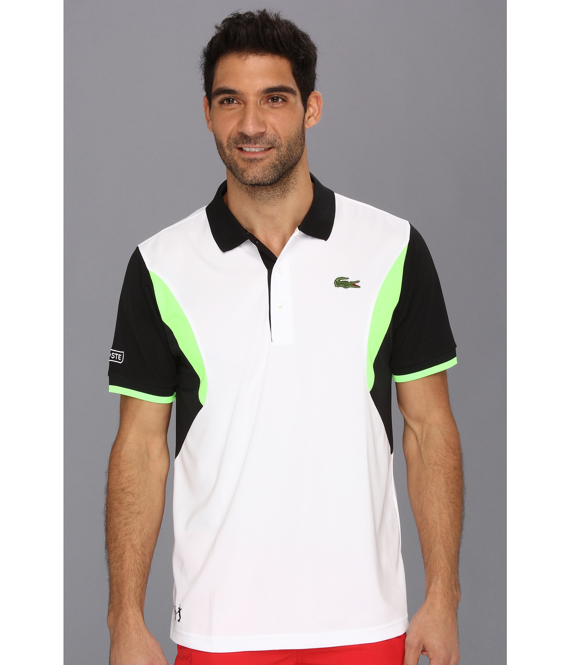 a955076b8e9c1 Lyst - Lacoste Andy Roddick Ultra Dry Geometric Color Block Polo in ...