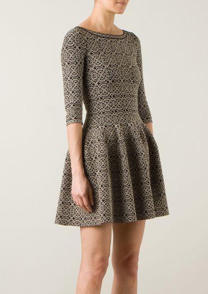 Alaia Dresses On Sale Alaa Black and Gold Dress