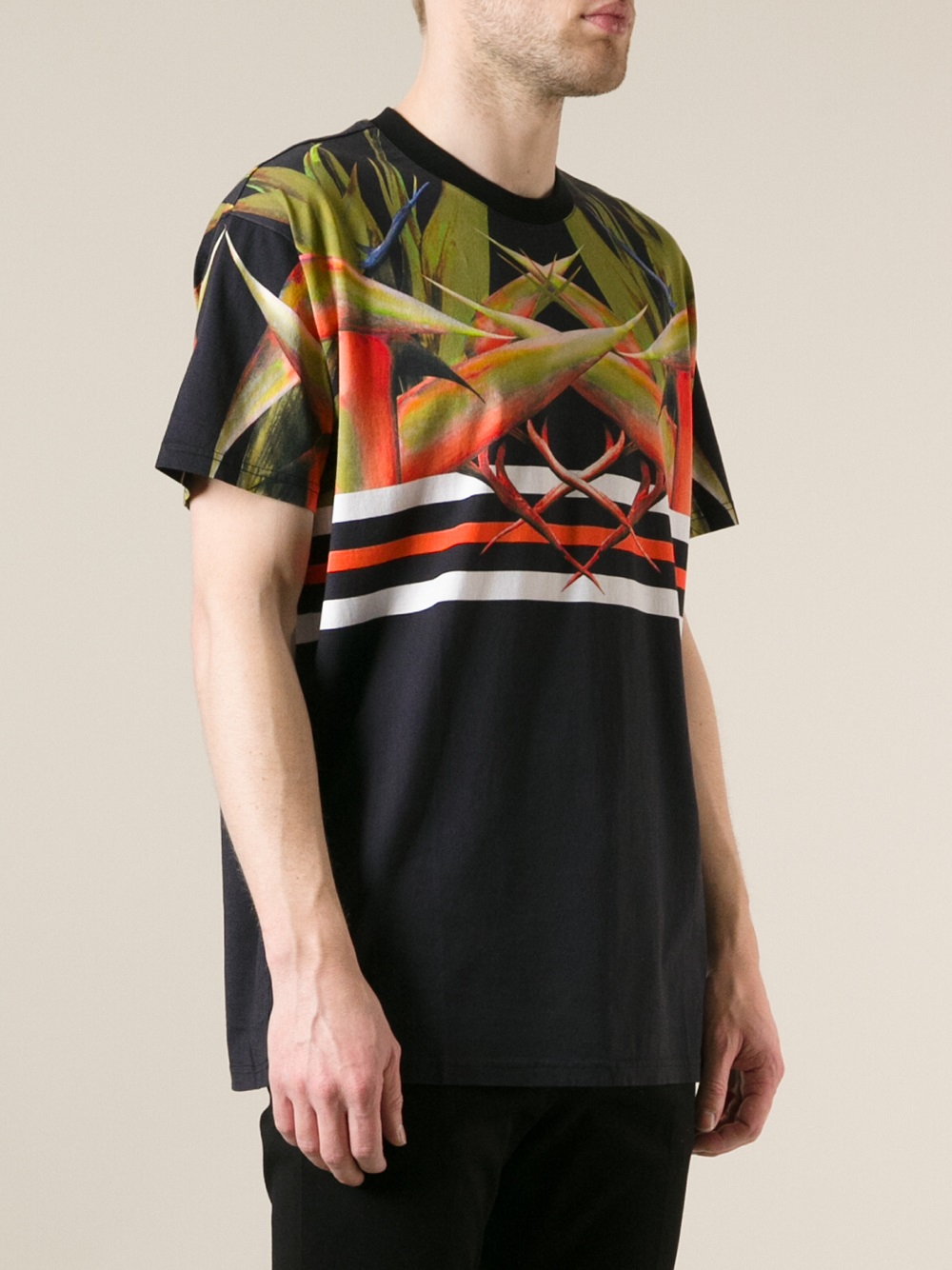 Lyst - Givenchy Bird Of Paradise Print Tshirt in Black for Men