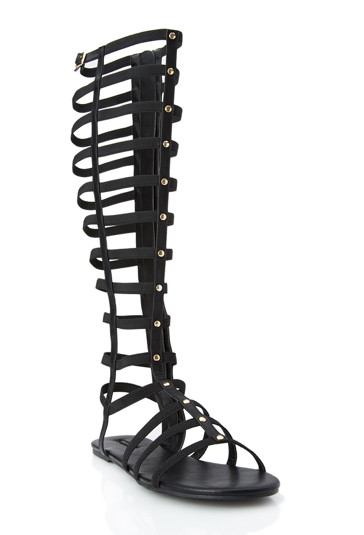4b91e10a00a1 Lyst - Forever 21 Sweet Life Gladiator Sandals in Black