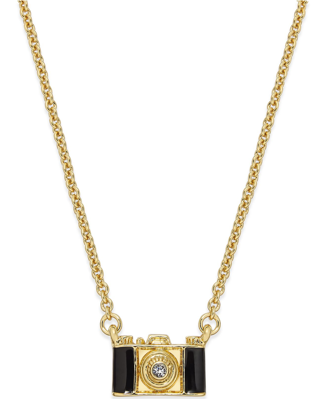 kate spade new york Metallic 12k Gold-plated Camera Pendant Necklace