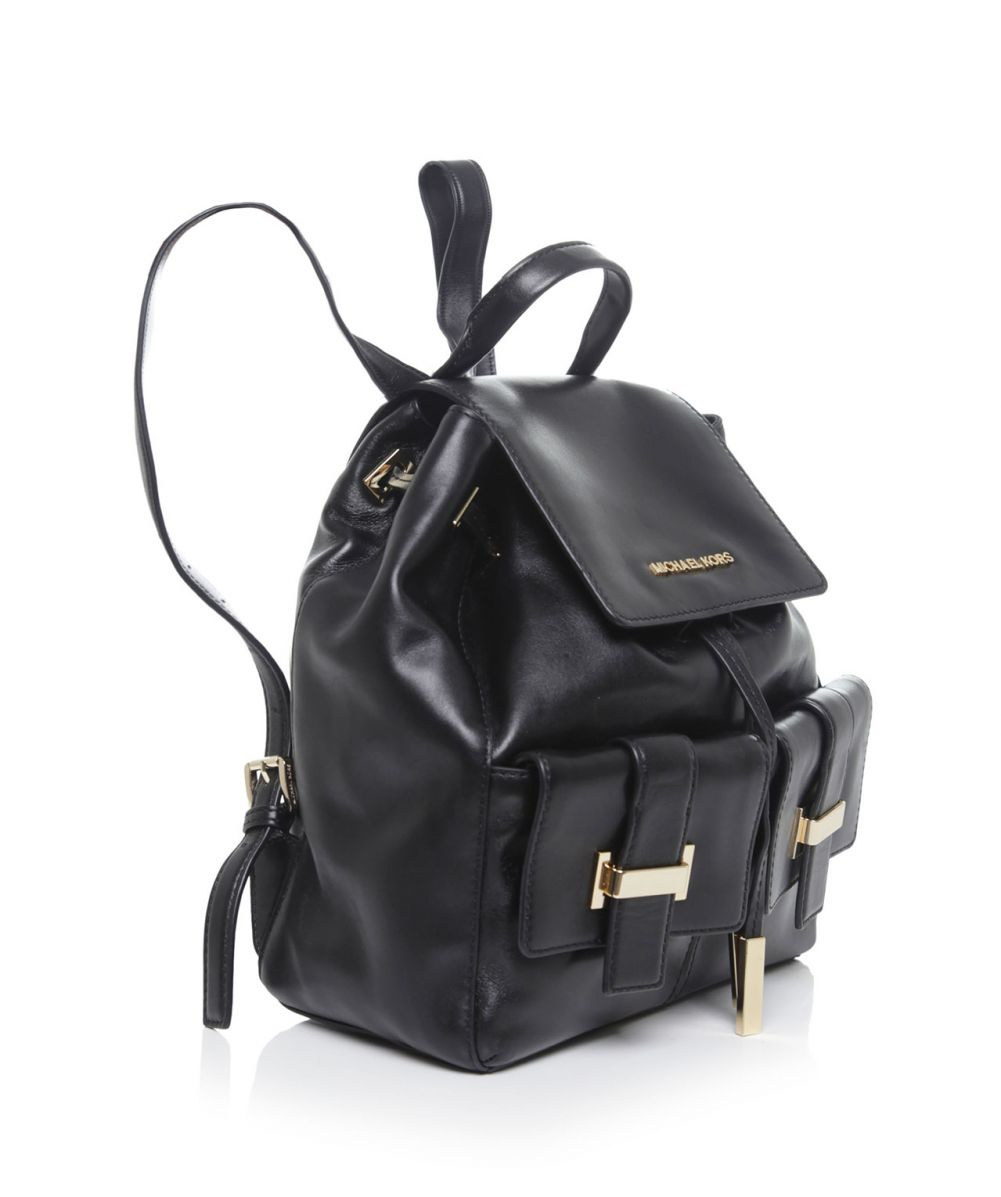 michael michael kors marley drawstring leather backpack in. Black Bedroom Furniture Sets. Home Design Ideas