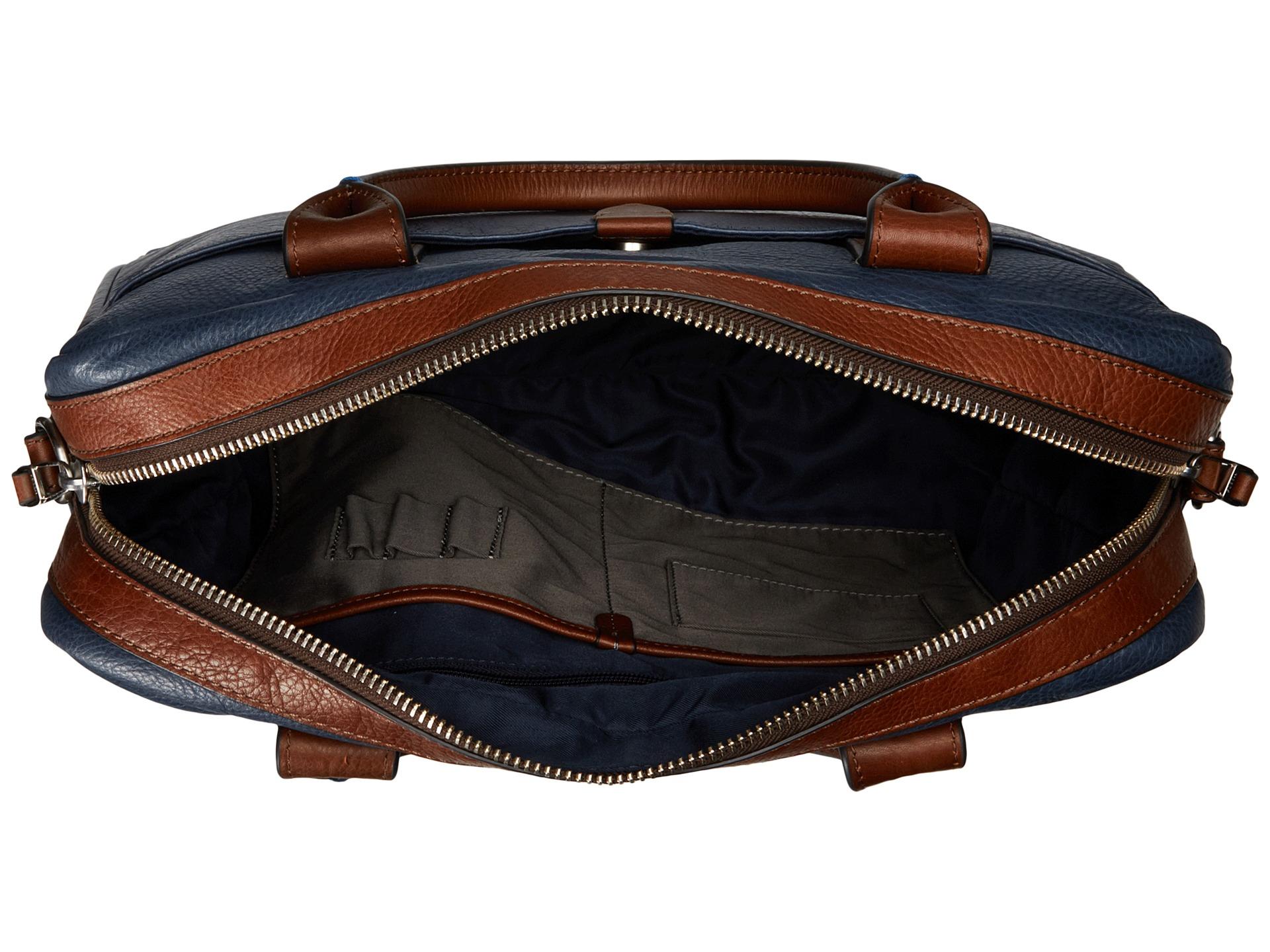 Fossil Wyatt Workbag In Blue For Men | Lyst