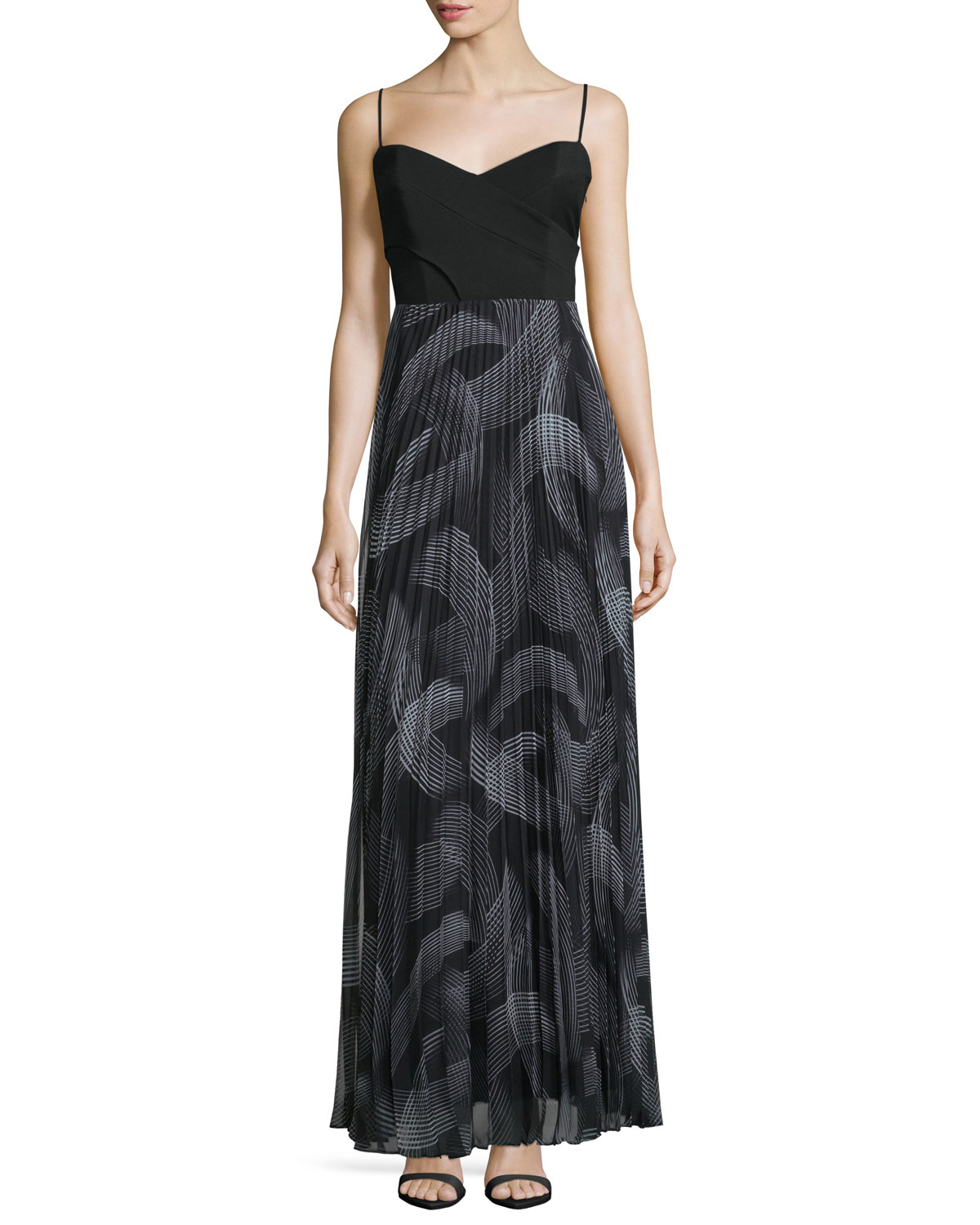 Lyst - Laundry By Shelli Segal Sweetheart-neck Pleated ...