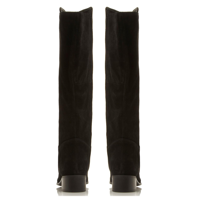 Steve Madden Pullon Knee High Boot in Black Suede (Black)