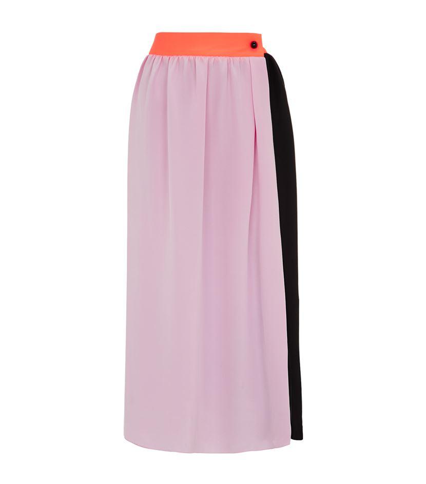 roksanda wrap maxi skirt in pink