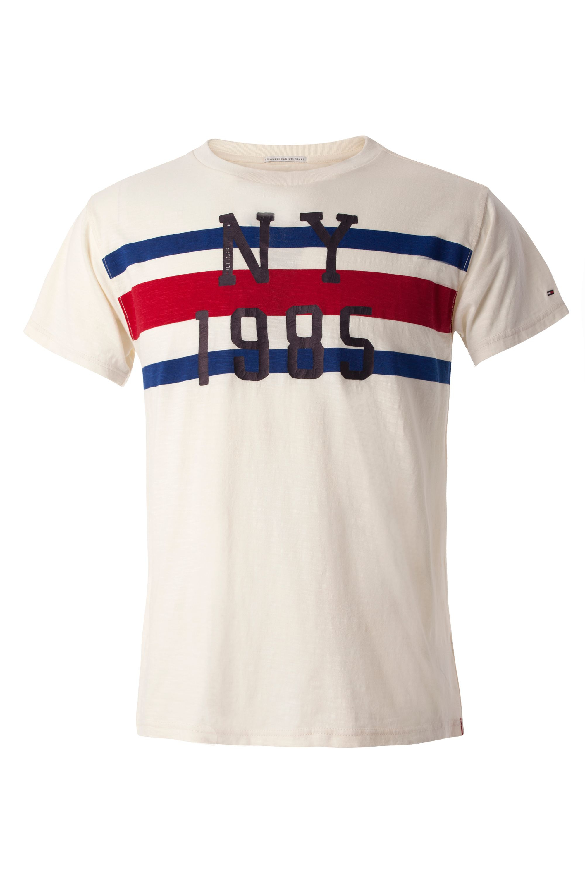tommy hilfiger basic slub t shirt in white for men lyst. Black Bedroom Furniture Sets. Home Design Ideas