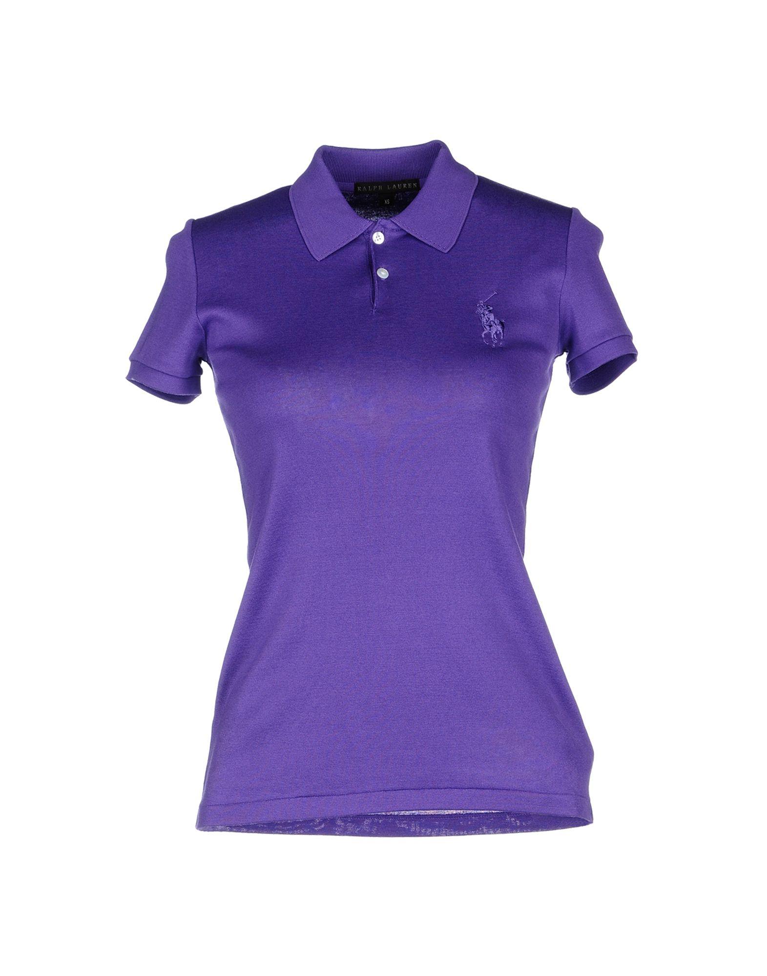 Ralph lauren black label polo shirt in purple mauve lyst for Black ralph lauren shirt purple horse
