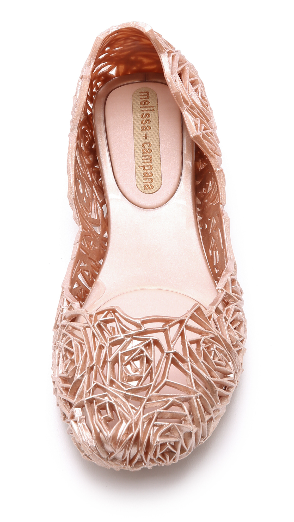 Melissa Campana Fitas Ii Flats Rose Gold In Pink Lyst