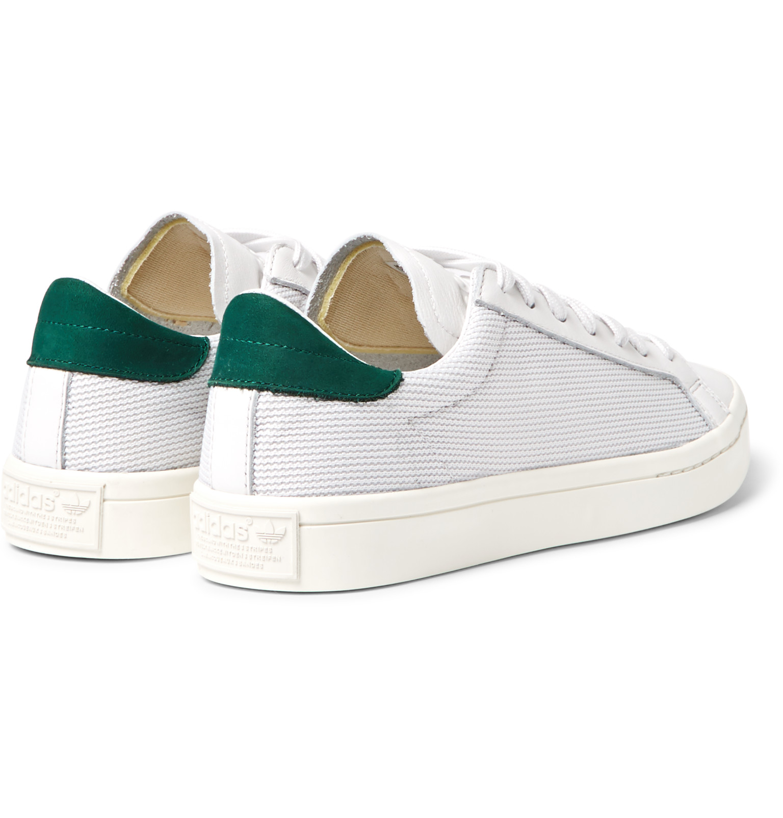Court Vantage Low Top Suede Trainers in White