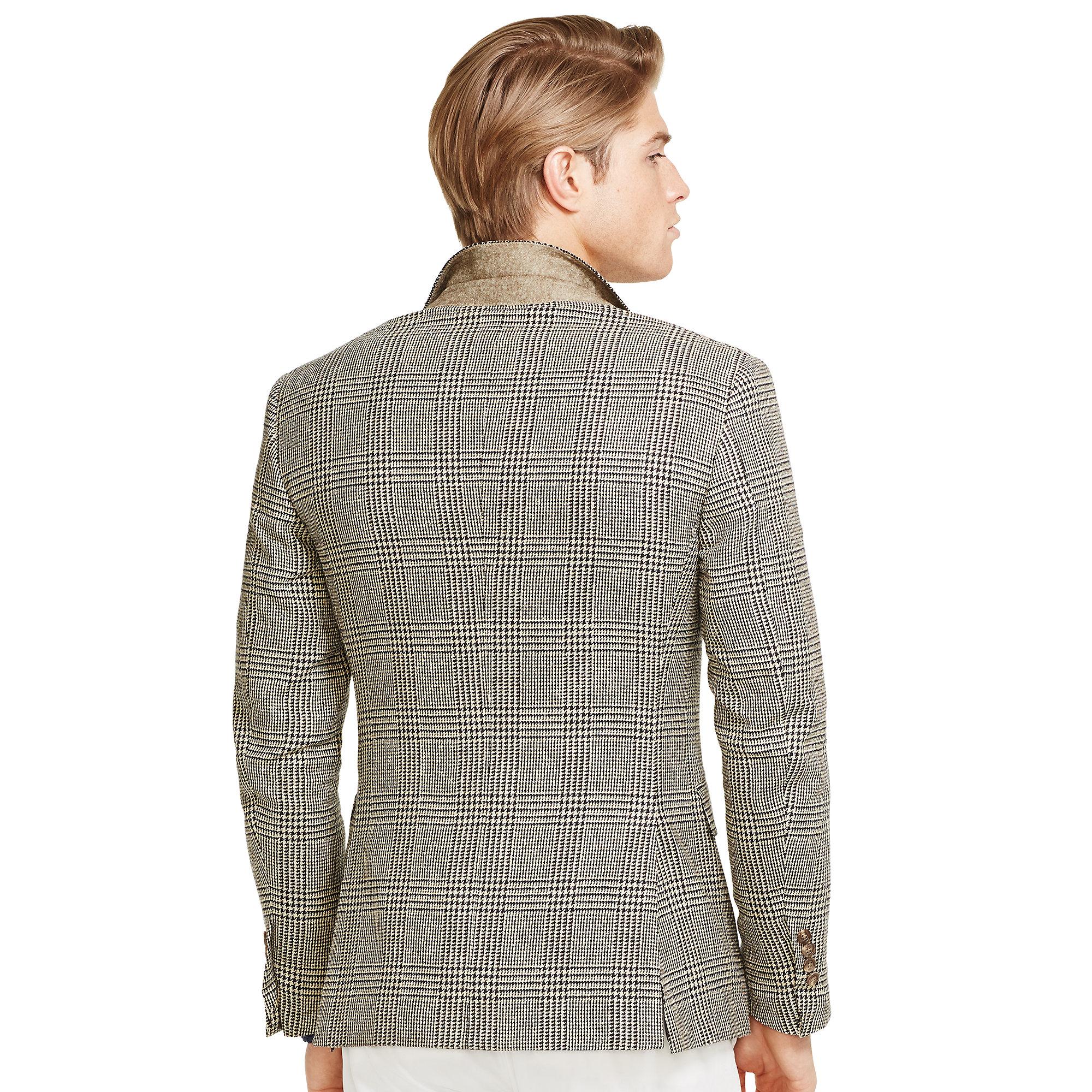 lyst polo ralph lauren polo glen plaid sport coat in black. Black Bedroom Furniture Sets. Home Design Ideas
