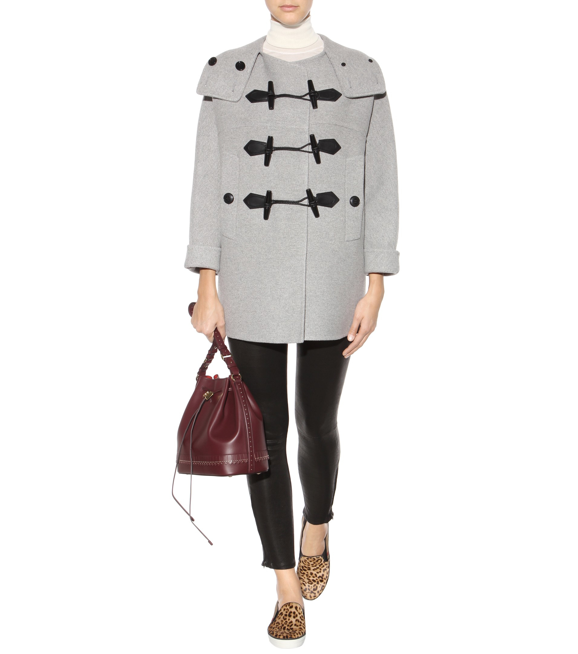 Burberry brit Anbridge Wool And Cashmere Duffle Coat in Gray | Lyst