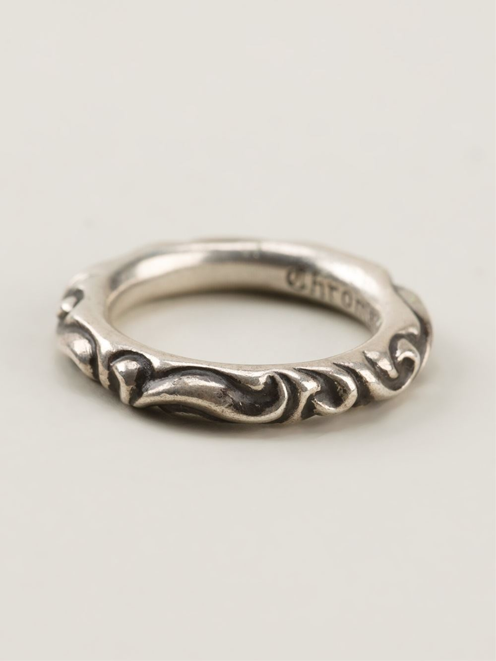 Chrome Hearts Engraved Ring In Metallic Lyst