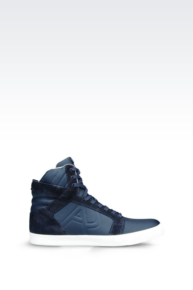armani jeans high top sneakers