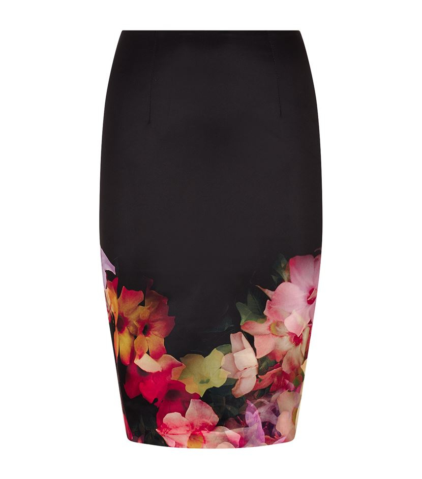 Ted Baker Kaikai Cascading Floral Pencil Skirt In Black Lyst