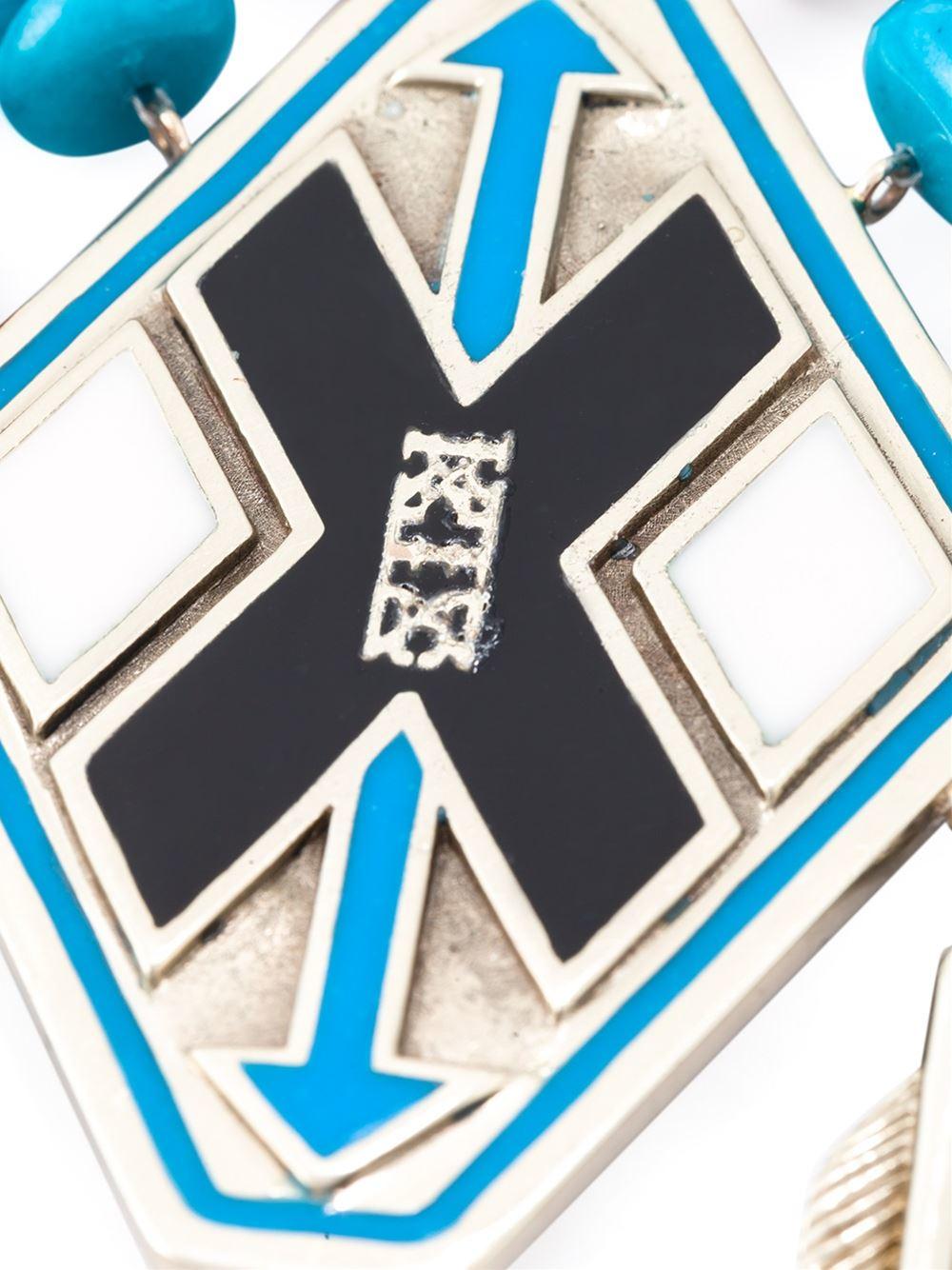 KTZ Oversized Necklace in Blue
