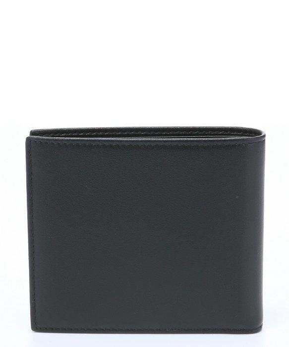 Prada Black Leather Bi-fold Wallet in Black for Men | Lyst