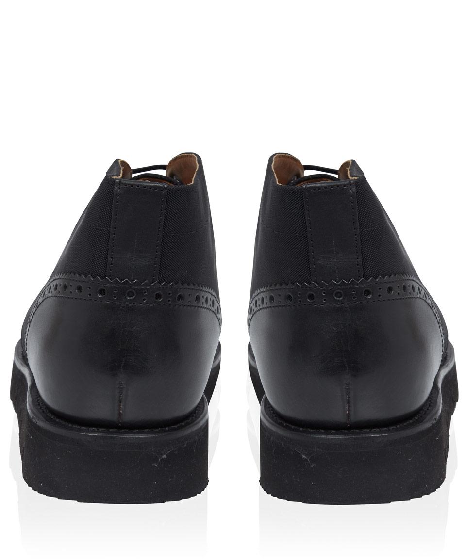 foot the coacher black maddox wedge chukka boots in black