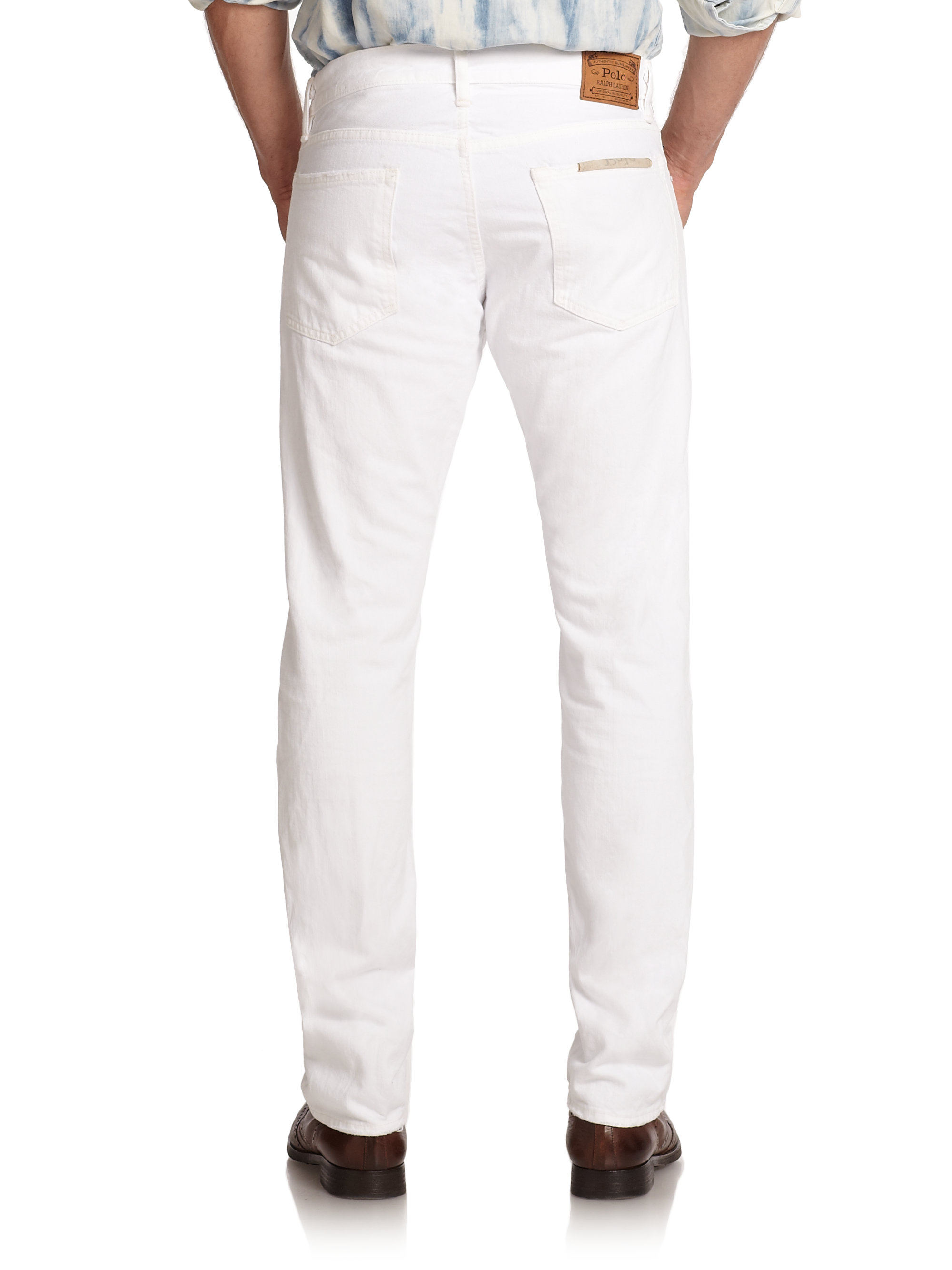 f8a17a31 Polo Ralph Lauren White Varick Slim-straight Hudson Jeans for men