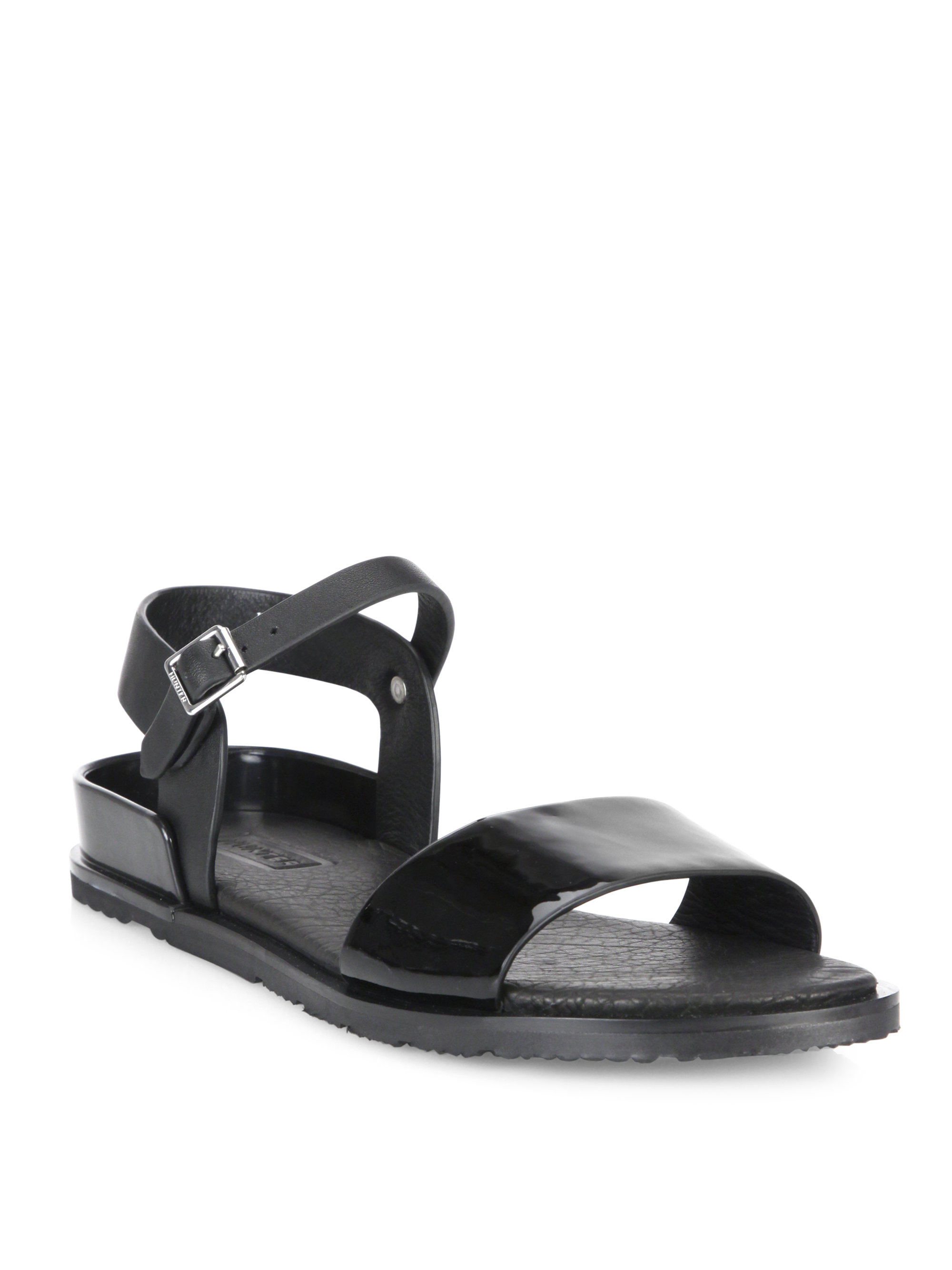 Hunter Leather Ankle Strap Sandals free shipping cheap real MOcOA9o