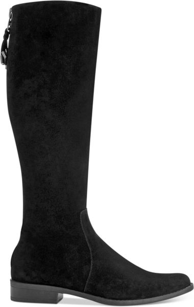 Calvin Klein Taylin Wide Calf Riding Boots In Black Black