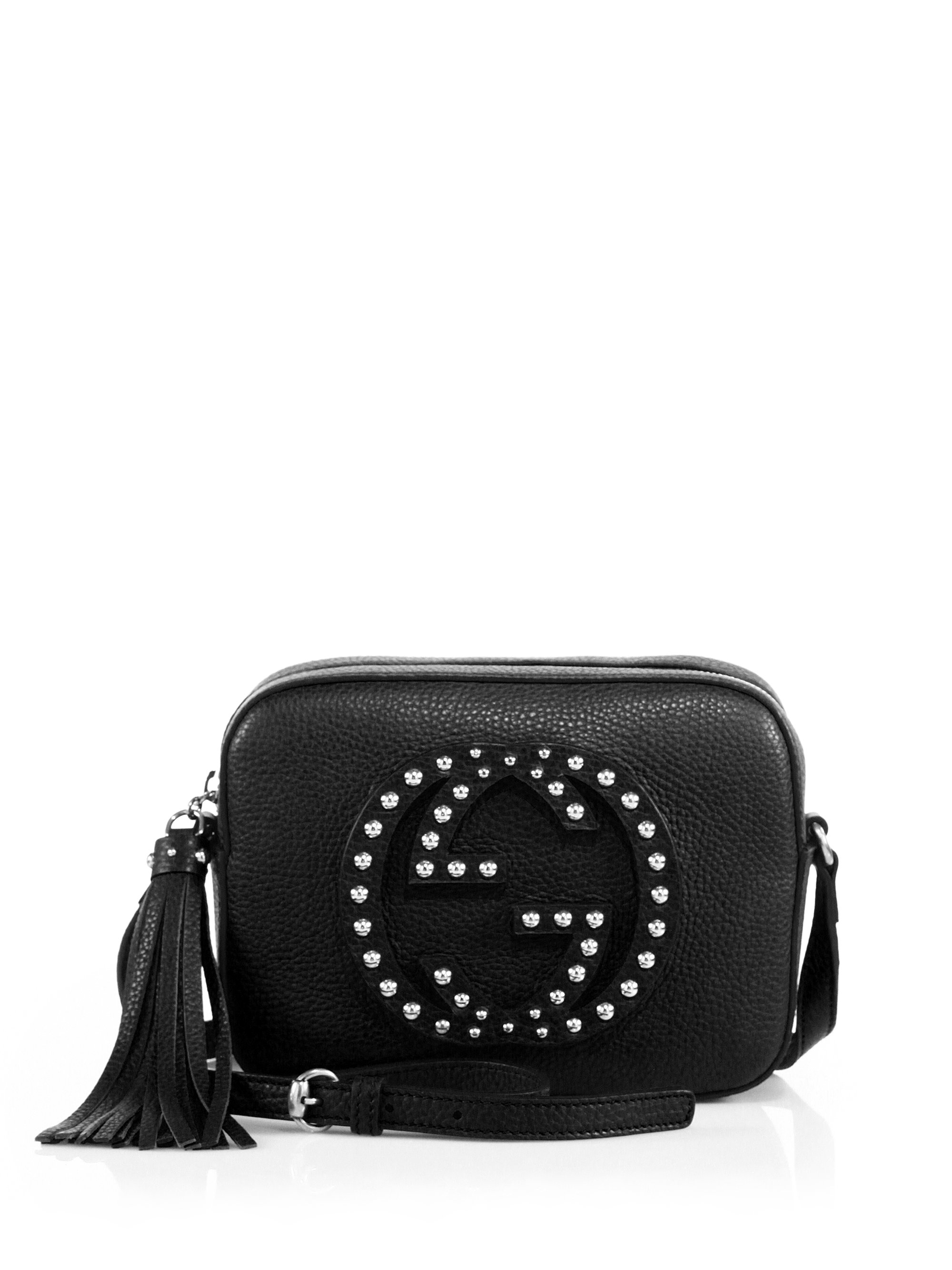 f70dc1143f72f6 Lyst - Gucci Soho Small Studded Leather Disco Bag in Black