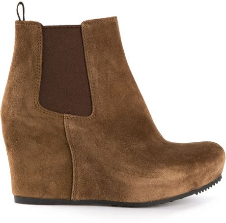 car shoe wedge ankle boots in brown lyst