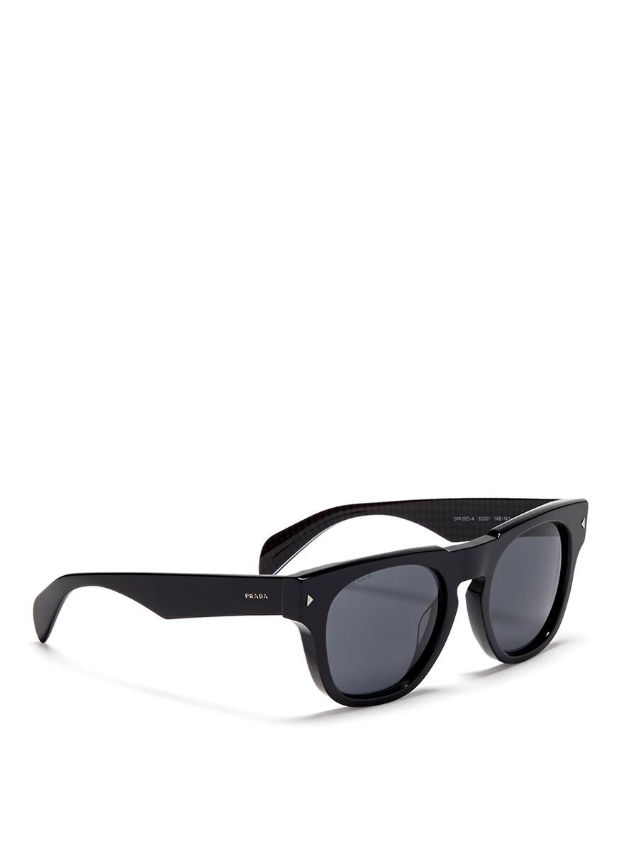 cde6778fbc ... clearance prada classic wayfarer sunglasses in black lyst 4e9f9 d9054