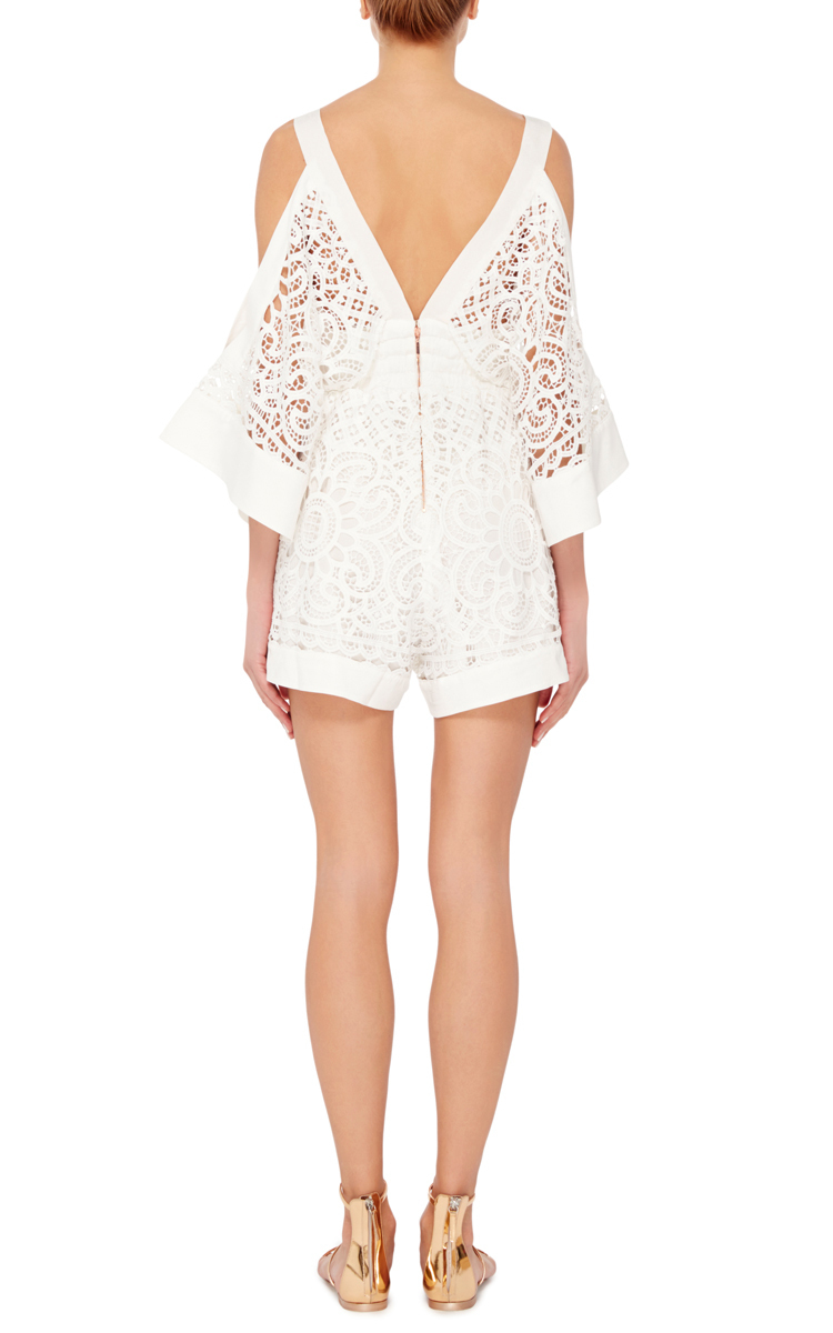 2425e8d66d5 Lyst - Alice McCALL Keep Me There Open Shouldered Playsuit in White