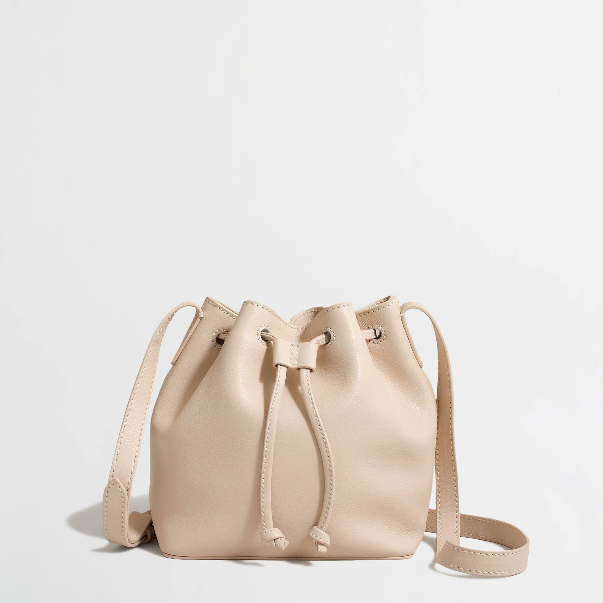 J.crew Factory Leather Mini Bucket Bag in Natural