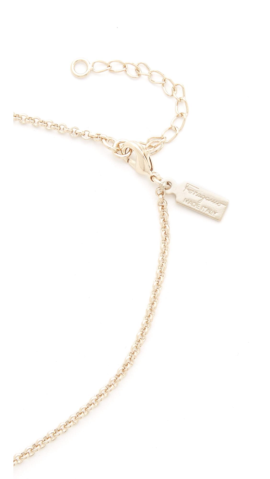 ferragamo bijoux collane necklace in pink lyst