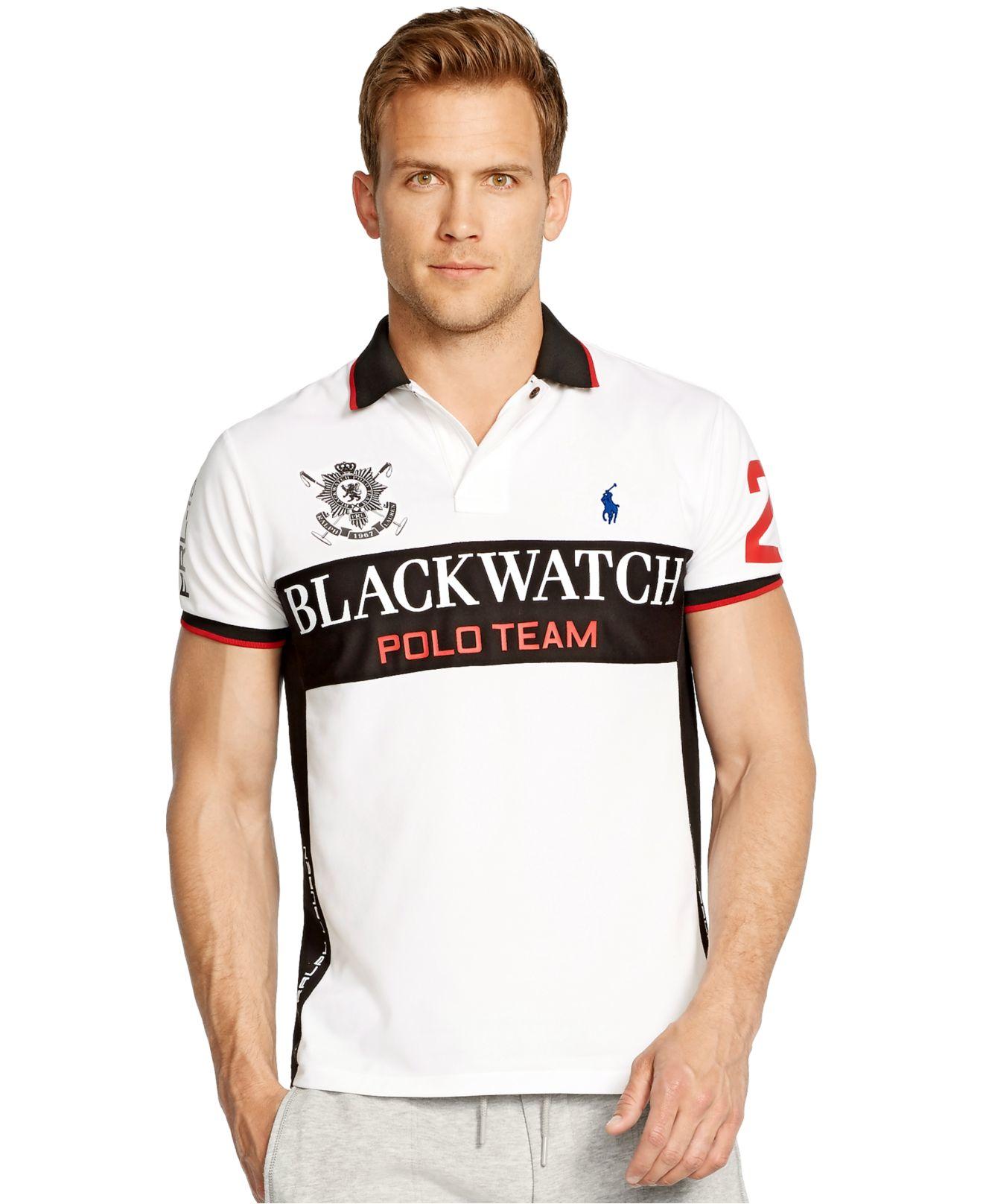 6442691e Polo Ralph Lauren Black Watch Custom-fit Performance Mesh Polo Shirt ...