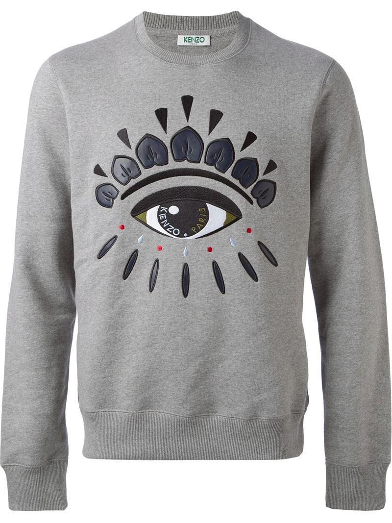 3dcf58afe KENZO 'eye' Sweatshirt in Gray for Men - Lyst