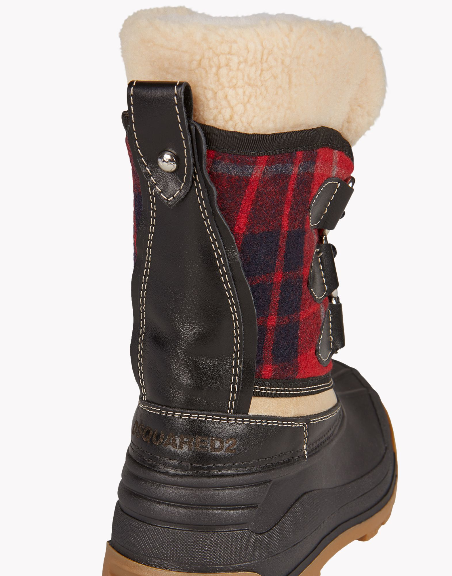 Dsquared² Plaid Snow Boots in Red for Men | Lyst