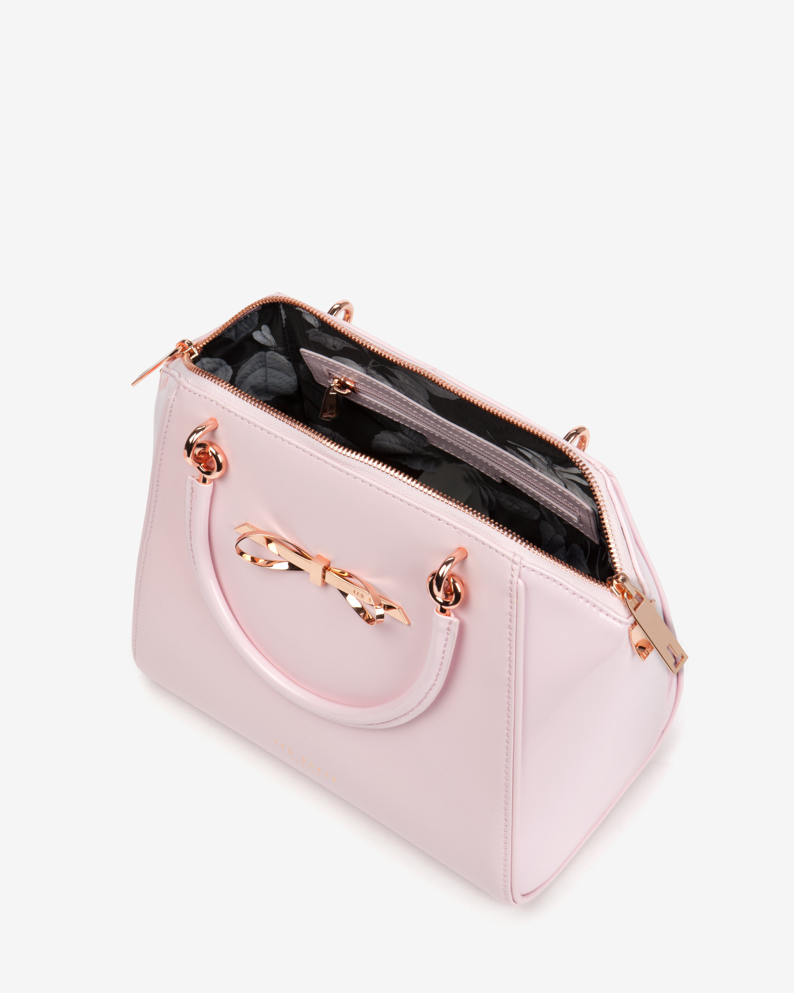 f97310318e4b77 Lyst - Ted Baker Small Slim Bow Tote Bag in Pink