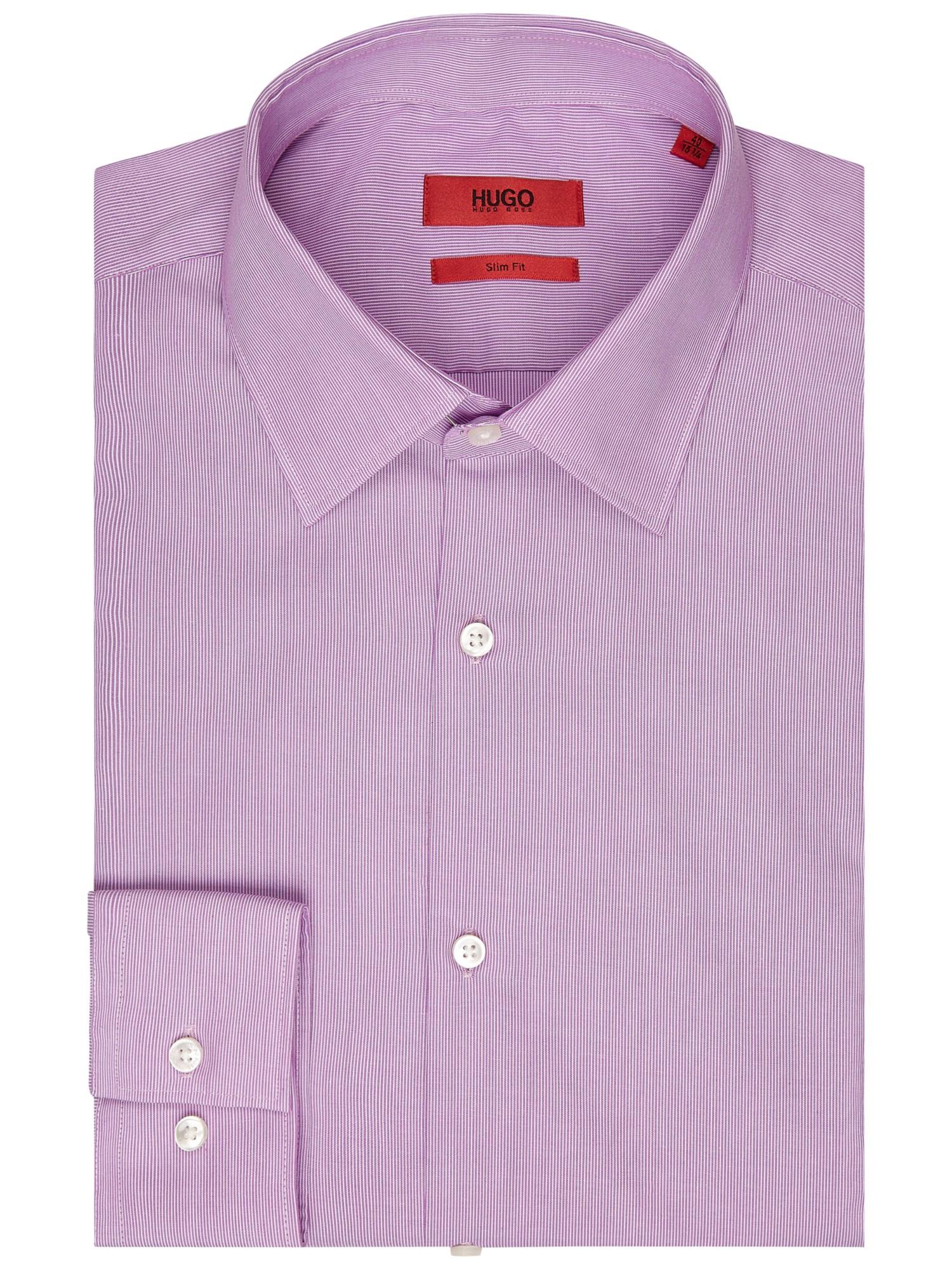 Boss hugo by jacob stripe slim fit shirt in purple for men for Hugo boss formal shirts