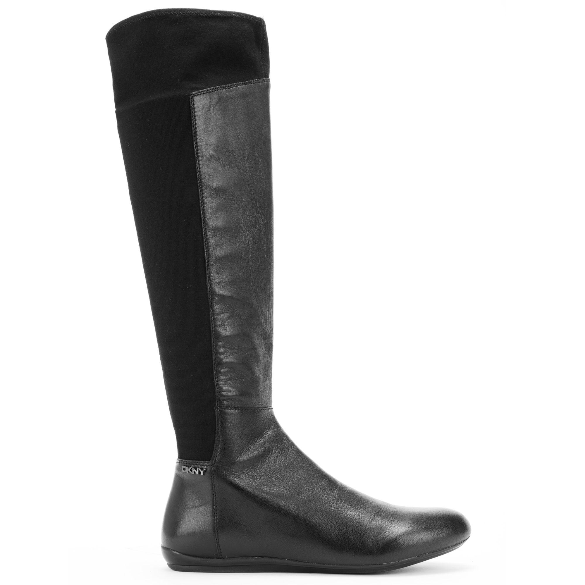 72643ba2bf0 DKNY Black Sariella Tall Flat Boots