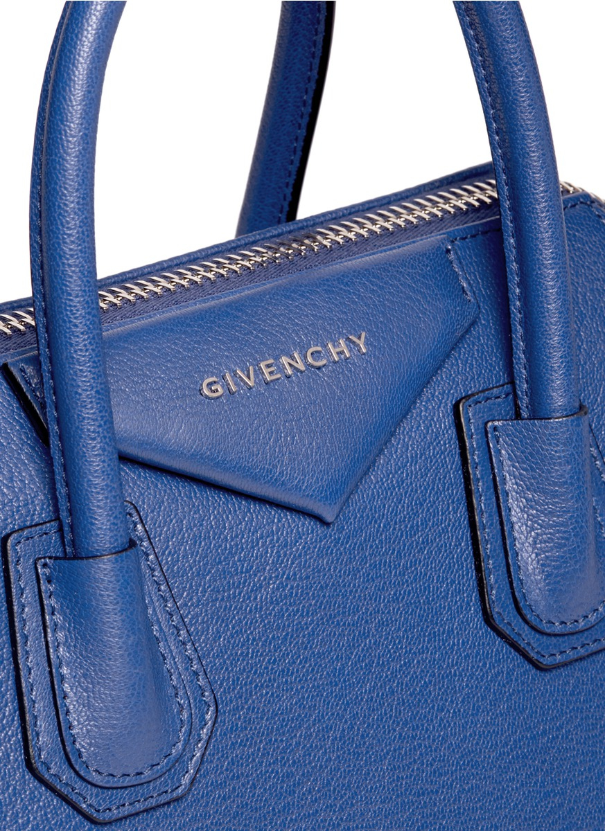 5862cb20a772 Lyst - Givenchy  antigona  Small Leather Bag in Blue