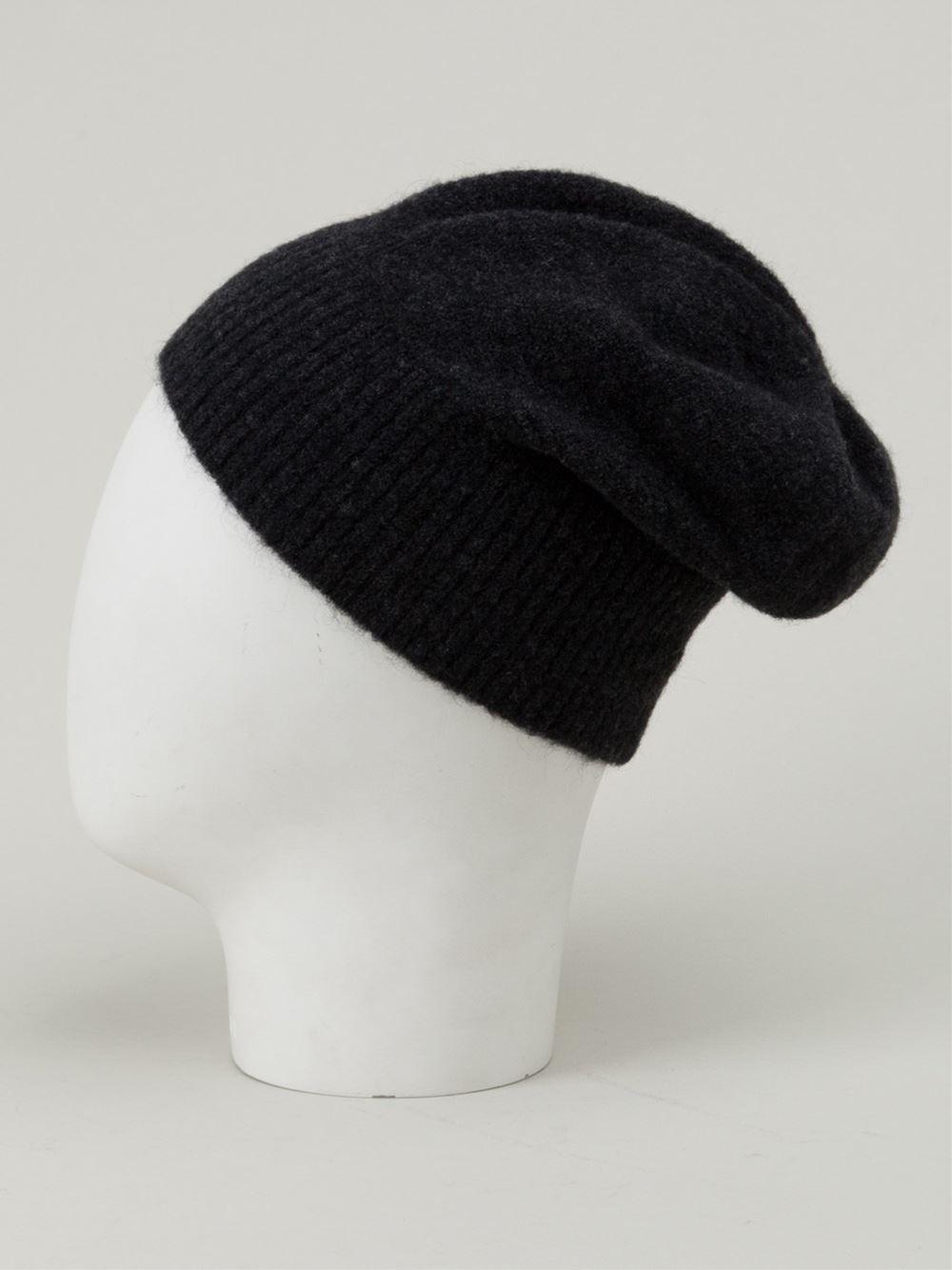 Lyst - Balenciaga Beanie Hat in Black for Men d4ddc5c67f9