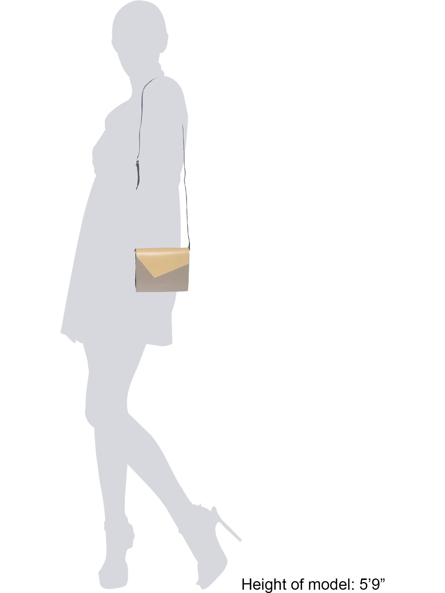 Radley Portman Yellow Small Flapover Cross Body Bag in Grey