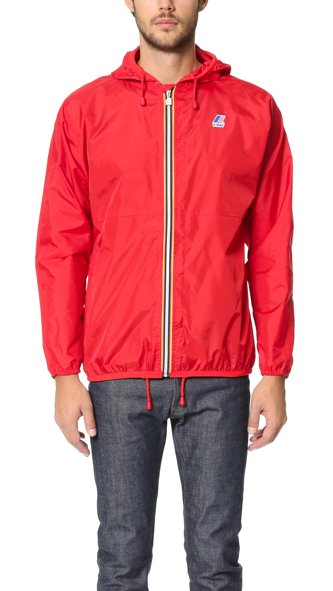 k way claude klassic jacket in red for men lyst. Black Bedroom Furniture Sets. Home Design Ideas