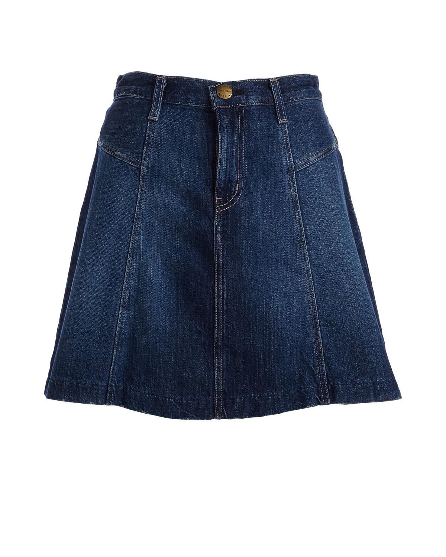 current elliott the skater denim skirt in blue lyst