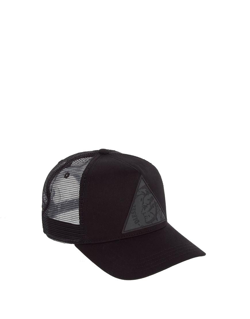 1e2f691e563 Lyst - DIESEL Colett Triangle Trucker Cap in Black for Men